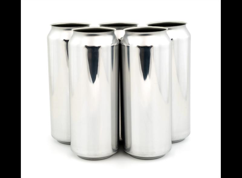 500ml Sølv Ølboks - 162stk